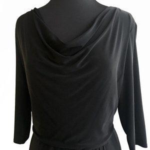 Jones New York Black Cowl Neck Dress 14W